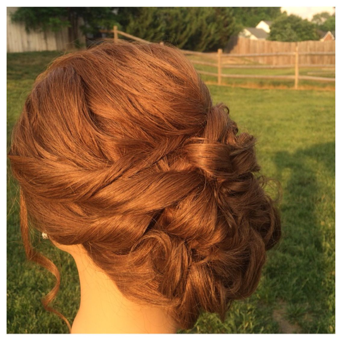 wedding updo on a red head. loose romantic low bun | bridal hair