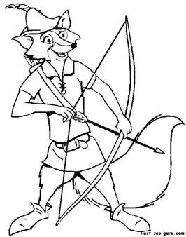 Printable Heroes Robin Hood Coloring Pages Printable Coloring