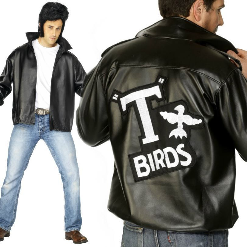 782fe073d4a Mens 50S Official Grease T Bird Jacket Danny 80S Stag Fancy Dress Costume