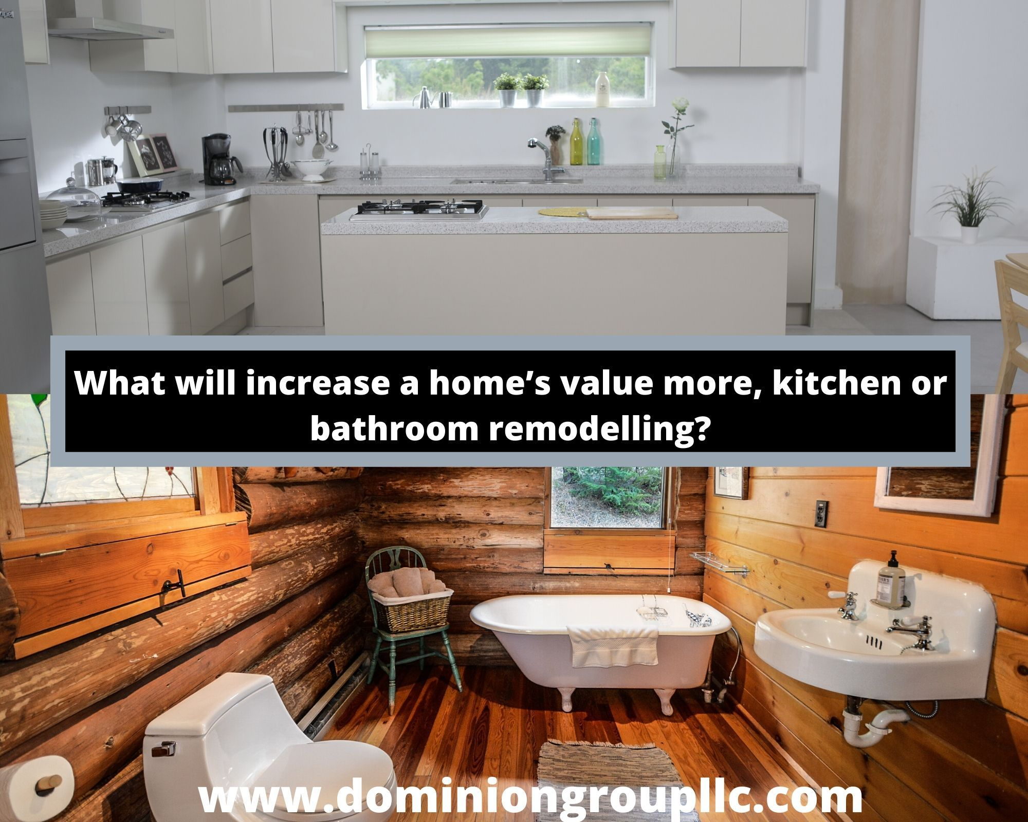 What Will Increase A Home S Value More Kitchen Or Bathroom Remodeling Bathrooms Remodel Home Construction Remodeling