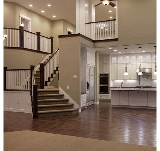 Perfect Open Floor Plan Kitchen Living Room About Remodel: Sherwin-Williams Paint Color Light French Gray (SW 0055