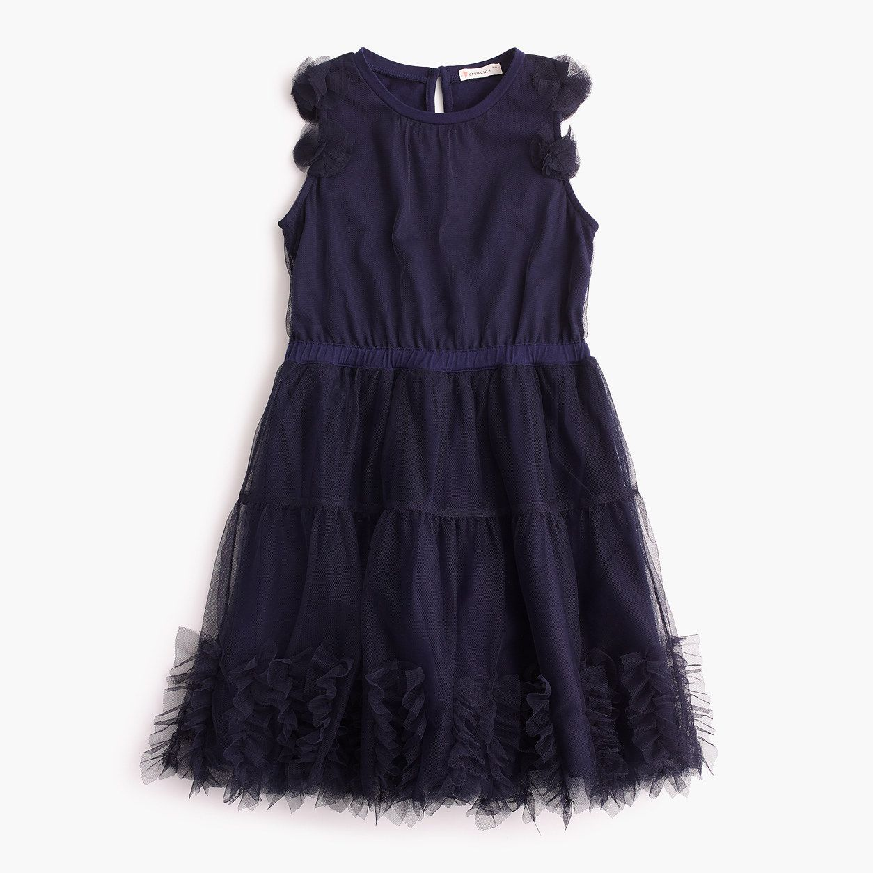 41a2412a8 crewcuts Girls Embellished Tulle Dress (Size 12 Kid) | Products ...