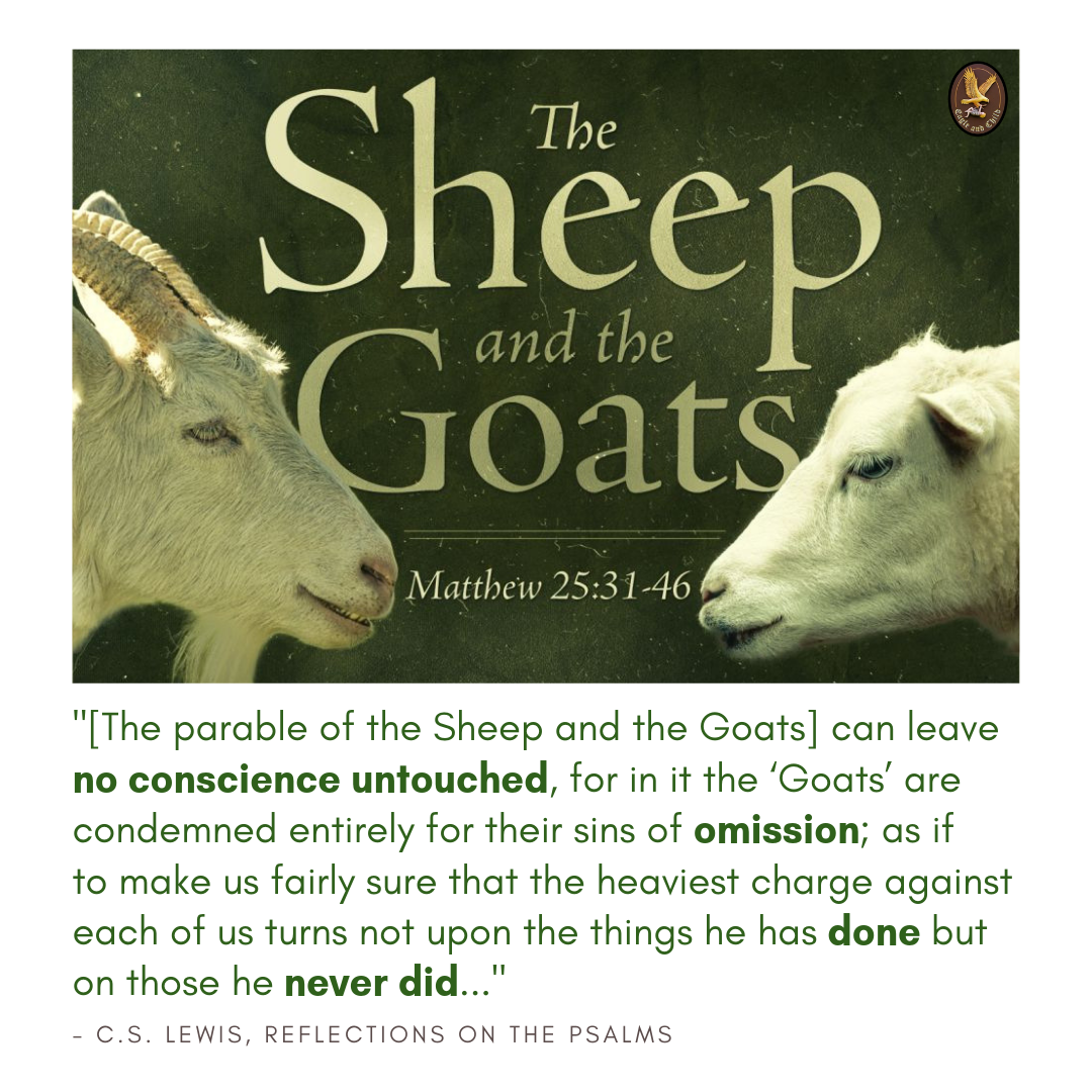 The Parable Of The Sheep And The Goats Can Leave No