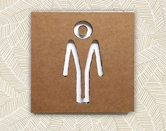 SIGNS WC sets 2 3 4, groups of wc signals, wabi sabi decoration ...