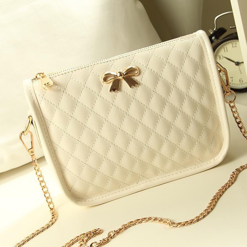 summer brand new handbag embroidered lozenge chain bag