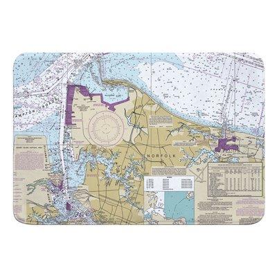 Breakwater Bay Nautical Chart Norfolk Va Bath Rug Nautical Chart Memory Foam