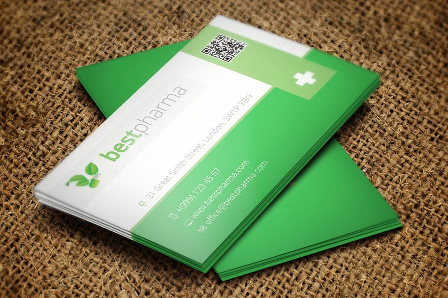 Pharmacy Business Card Business Cards Simple Business Card Design Elegant Business Cards Design