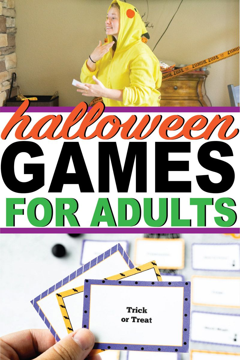Monster Themed Halloween Games for Adults (Free Printables