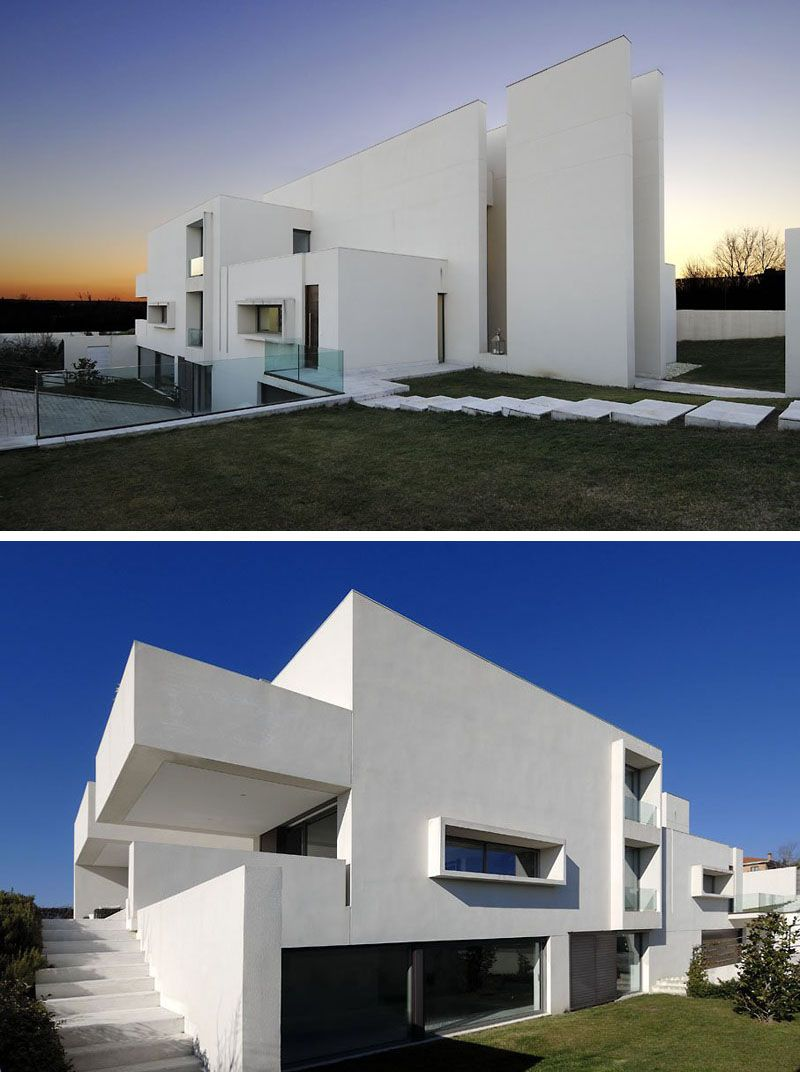 Large Exterior Plan For Modern Homes In Mix Colors: House Exterior Colors – 11 Modern White Houses From Around The World