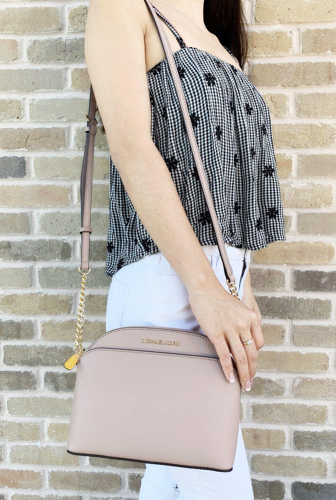 74b1a61cb2ce Michael Kors Emmy Small Cindy Dome Crossbody Fawn #MK #mercari  #amazonfashion #ebaycommunity #ebaybusiness #ebayreseller #mercariseller  #amazon #Handbags # ...