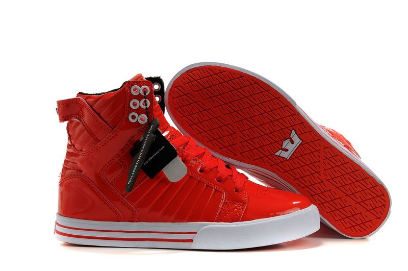 Supra Muska Skytop Red Patent Shoes. top quality but cheap supra skytop 2  shoes outlet