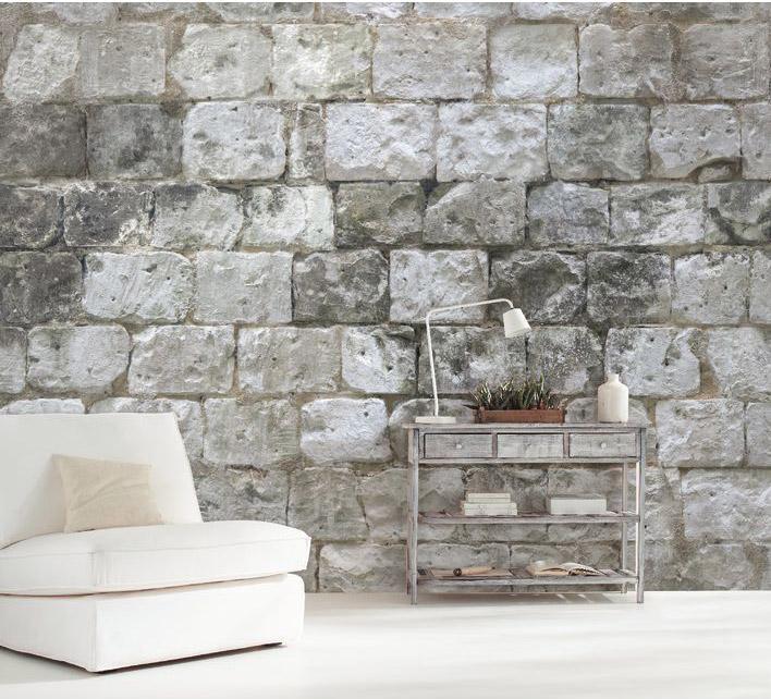 Papier Peint Intisse Panoramique Material Mur De Pierre Gris Caselio En 2020 Papier Peint Mur En Pierre Papier Peint Intisse