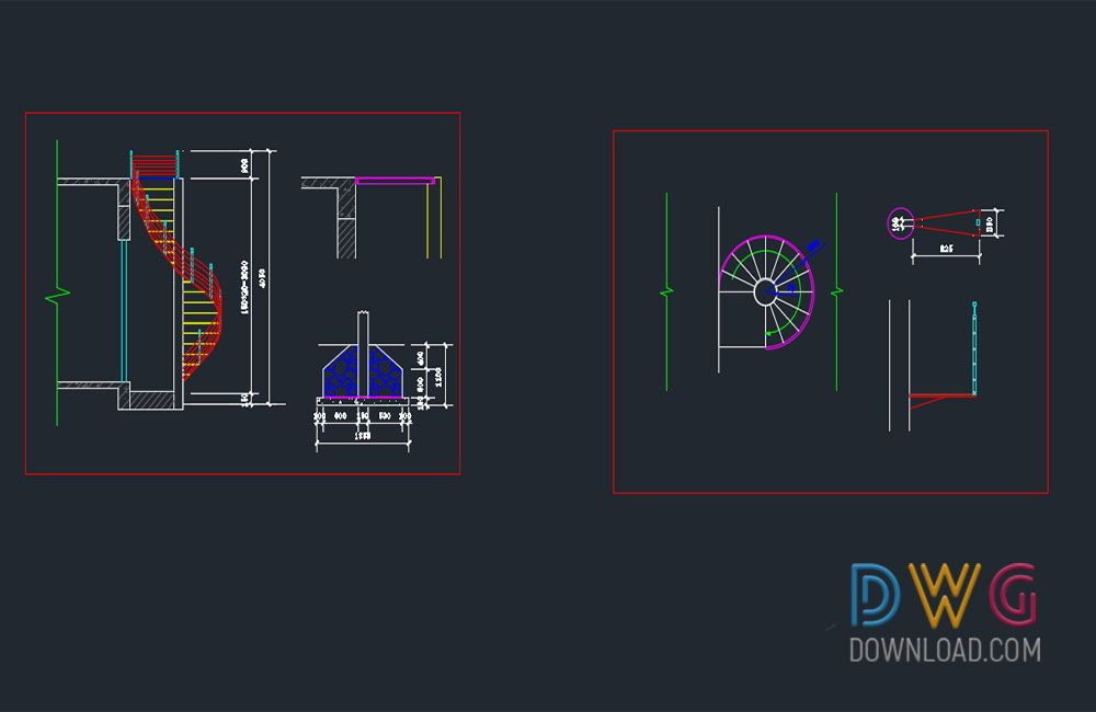 Best Dwg Download Spiral Staircase Dwg Download 2 640 x 480