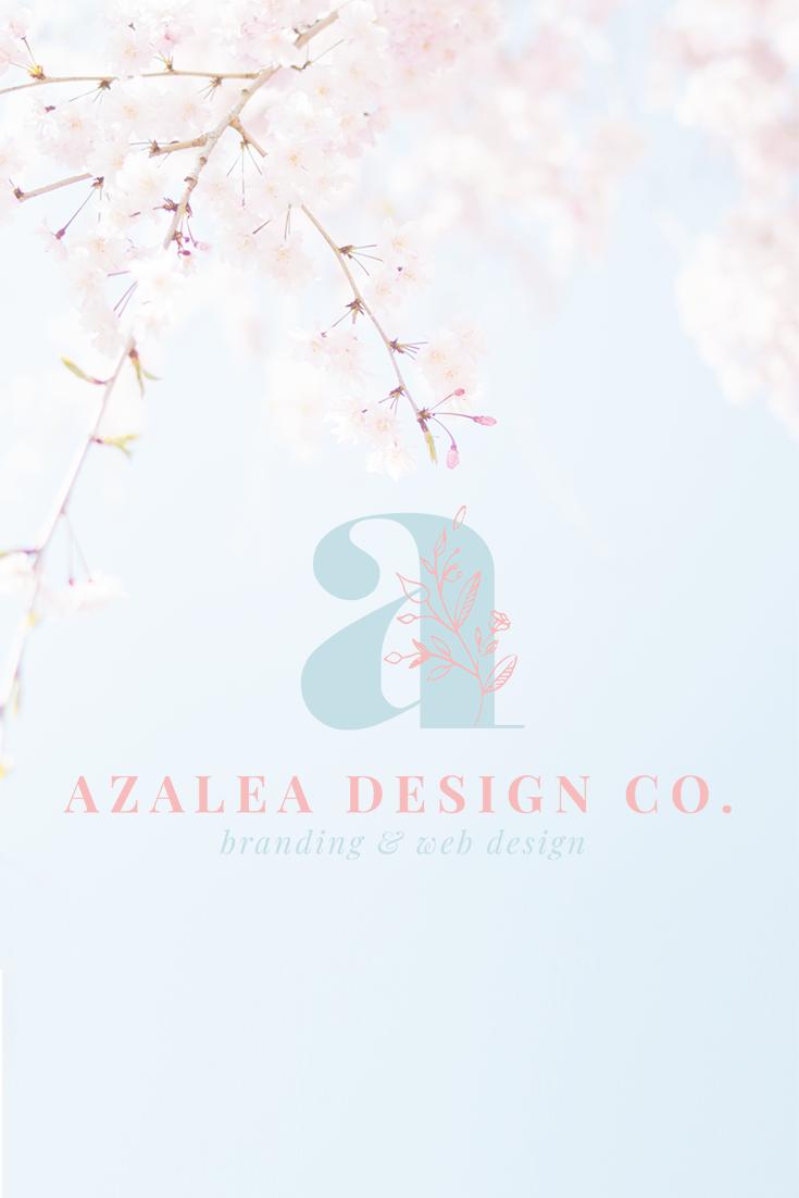 Logo For Azalea Design Co Branding Studio Logo Inspiration Branding Business Logo Design Freelance Web Design