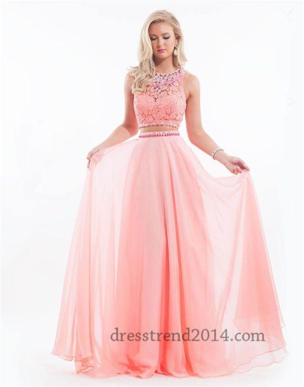 Rachel Allan 6889 Long Two Piece Lace Prom Dresses 2015 | Prom ...