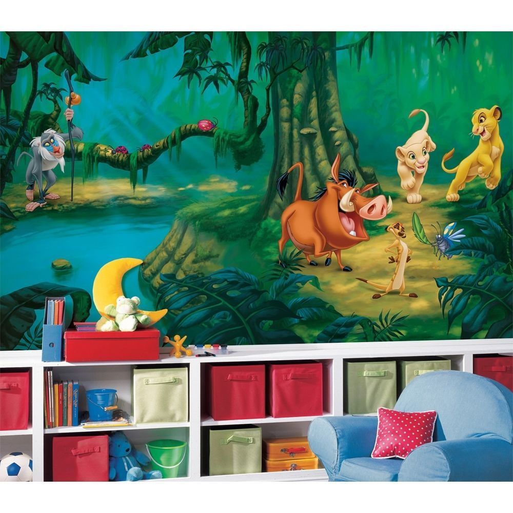 New XL LION KING WALL MURAL Disney Wallpaper Decor Lions Bedroom Decorations Part 32