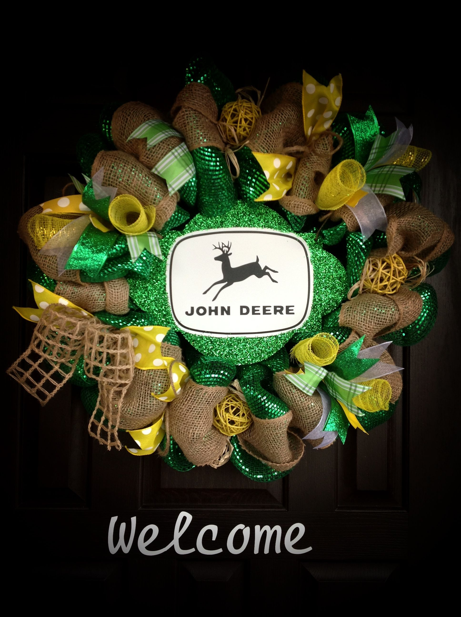 John Deere Wreath Wreath s and more By J Wolfe