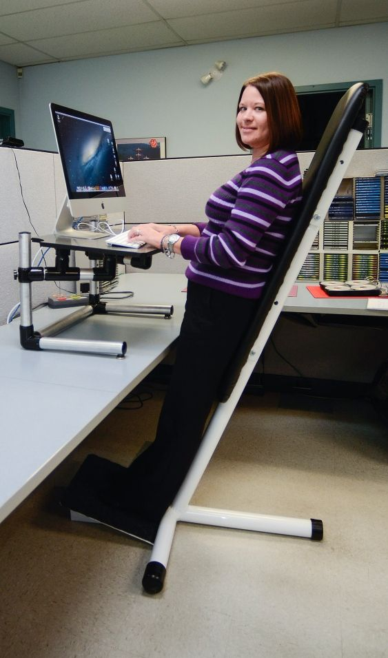 Out standing invention replaces unhealthy chair for office for Office chairs for standing desks