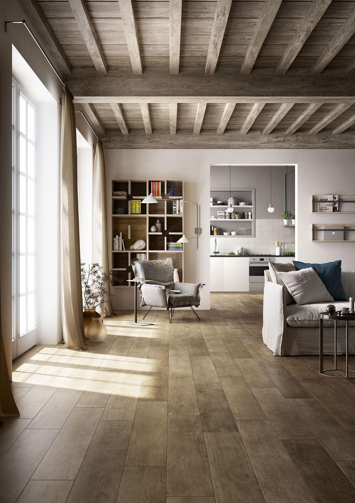 Marazzi treverktime brown 20x120 cm mm8r gres legno - Incollare piastrelle su legno ...