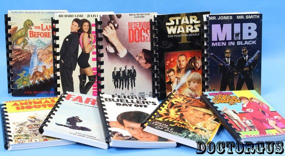 Adorbs! 10 Piece Recycled VHS Cover Notebook Assortment  by doctorgus, $4.99