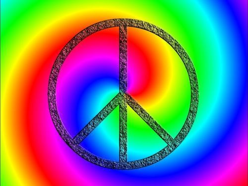 Peace Sign unique colorful Bold Poster wall art teens room PERSONALIZED FREE