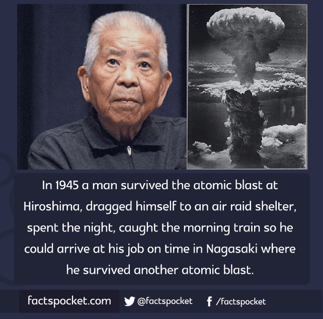 facts pocket in a man survived the atomic blast at this man survived the atomic bombings of hiroshima and nagasaki