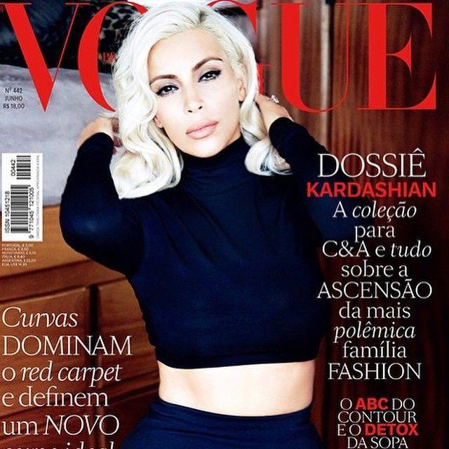 #regram da voguebrasil com uma estrela kimkardashian Arrasando loiríssima em um look da Coleção #kimkardashianwestparacea na capa da edição da revista Próxima! Poderosa! #diadosnamoradoscea #kimkardashiannavogue cea_brasilC & A Brasil