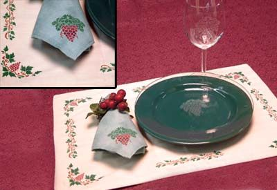 Grape Vineyard Table Setting. Glass etch a complete table setting ...