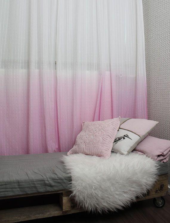 D.I.Y ombre gordijnen met uitleg | pastel bedroom kids | Pinterest ...