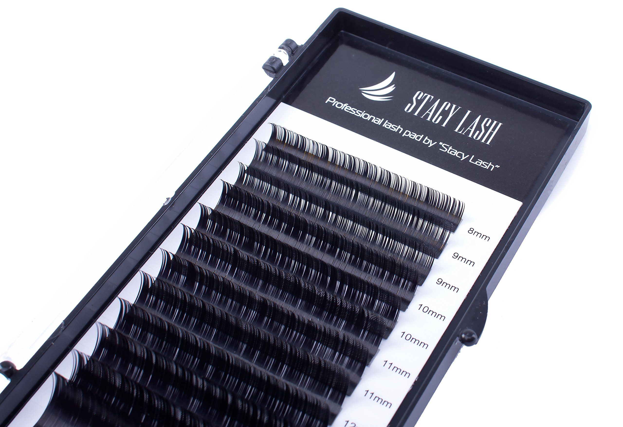 a71adc8fbcc Eyelash Extensions C Curl 0.07mm Stacy Lash / Mixed Tray / Professional  Black Semi-