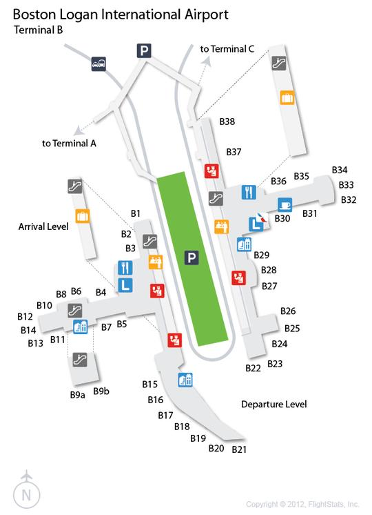 Boston Logan Jetblue Terminals Map
