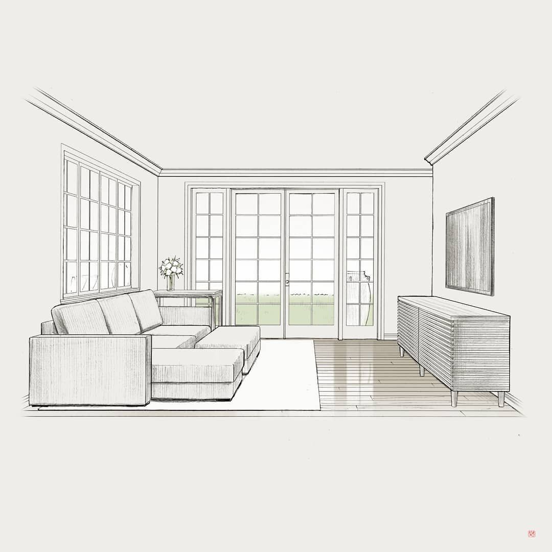 Andrii Bondarenko En Instagram Living Room Sketch Interiorsketch Interiorillus Interior Design Sketches Interior Design Drawings Interior Design Sketchbook