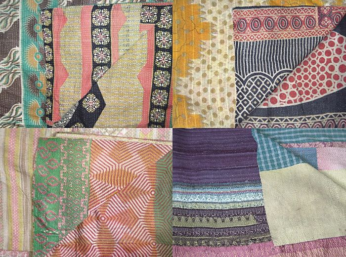 indian kantha quilts. sparrow & co.