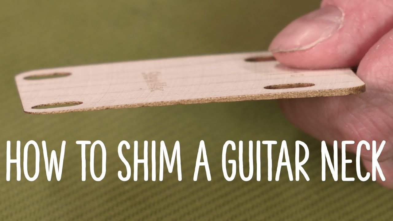 Video How And Why To Shim A Guitar Neck To Adjust Its Angle Guitar Neck Guitar Tips Guitar Tech