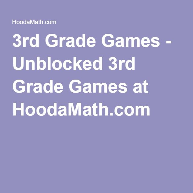 3rd Grade Games - Unblocked 3rd Grade Games at HoodaMath.com
