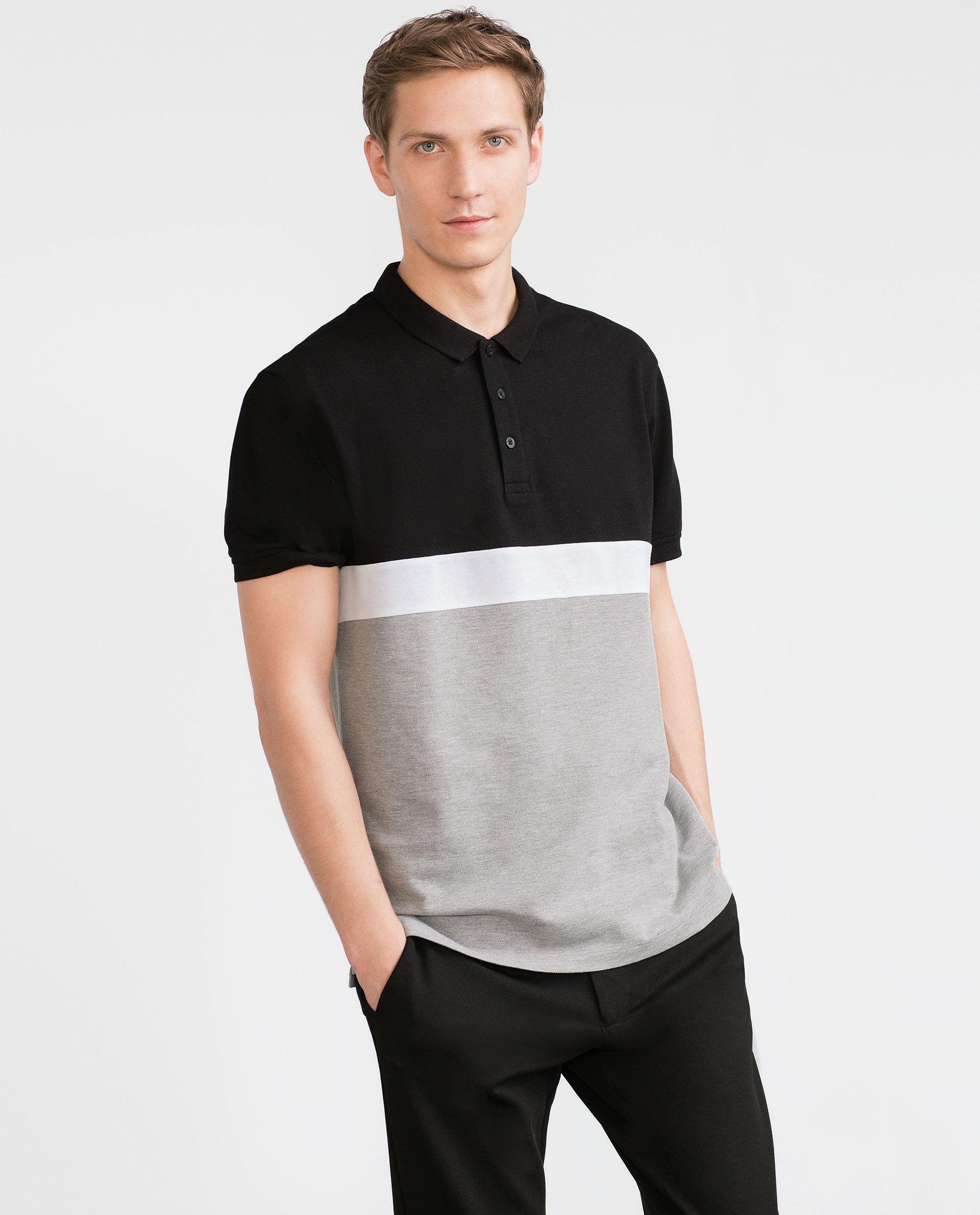 Piqu Polo Shirt Polo Shirts Man Zara Belgium Man The Man