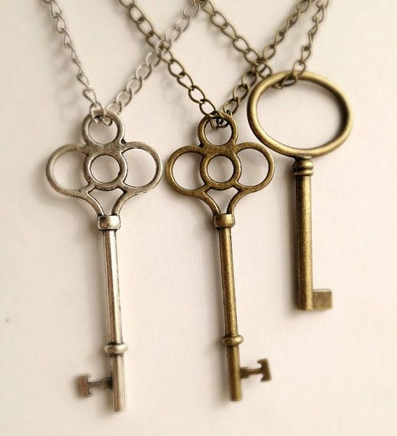 Skeleton key necklace.