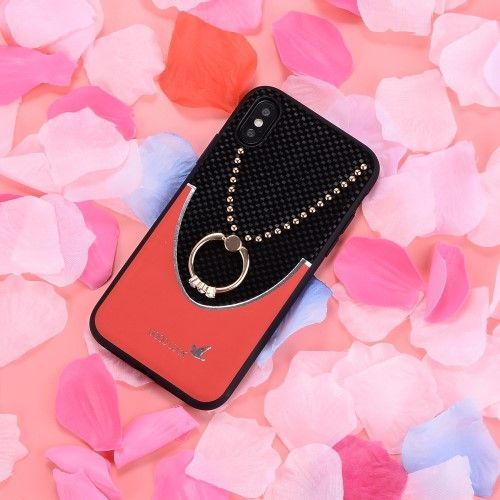 coque iphone xr rouge bague