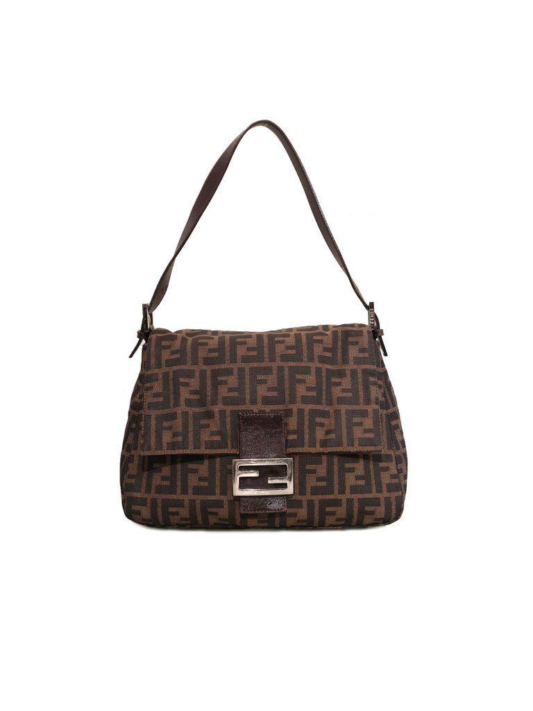 Fendi Zucca Mama Forever Shoulder Bag  febe562a79454