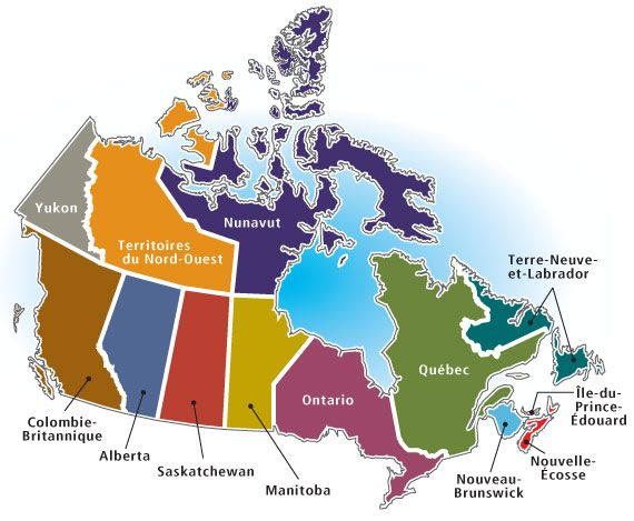 map of canada with capital cities and bodies of water thats easy