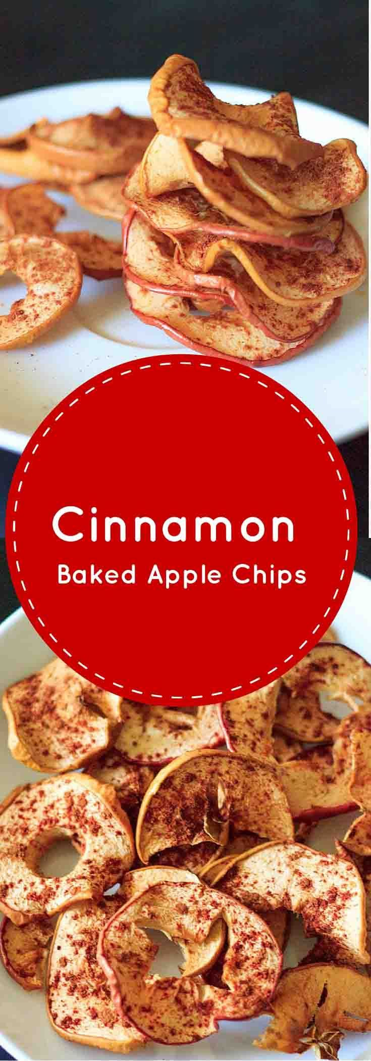 Cinnamon Apple Chips - healthy, vegan, gluten-free