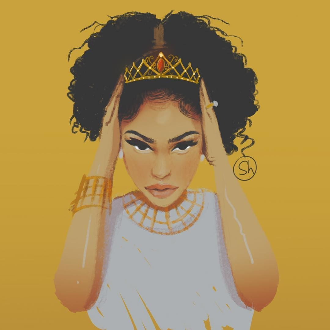 afrodesiacworldwide illustration315 beautifful curls
