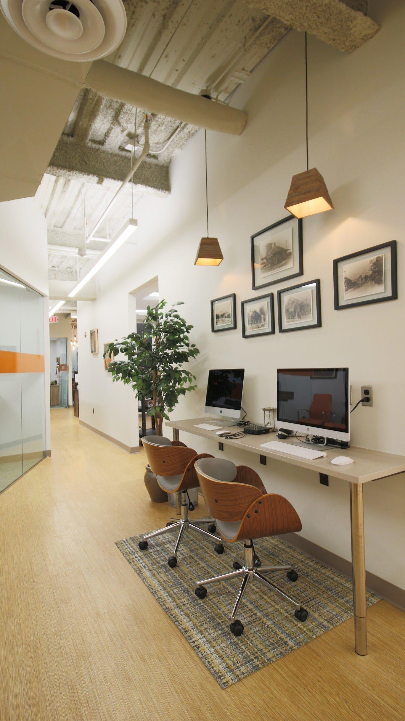 Office Tech Bar Custom Quartz Countertop Gallery Wall Fairfax Va E Interiors