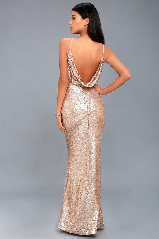 Champagne Sequin Dresses