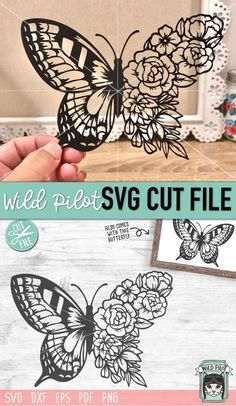 Butterfly SVG File, Floral Butterfly svg, Butterfl