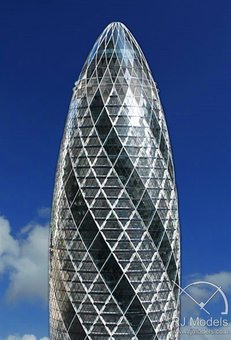 f p swiss re tower london office architectural models pinterest