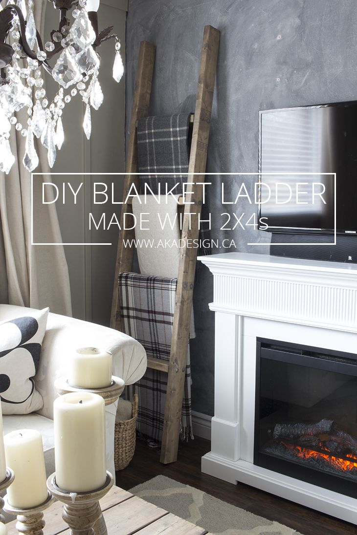Diy Blanket Ladder Made With S Akadesign Ca