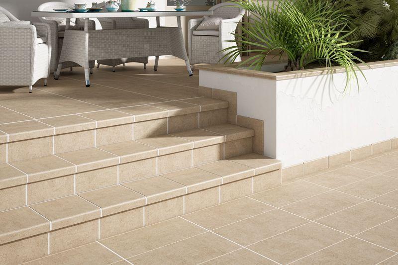Cer mica y pavimento antideslizante para exterior - Loseta para exteriores ...