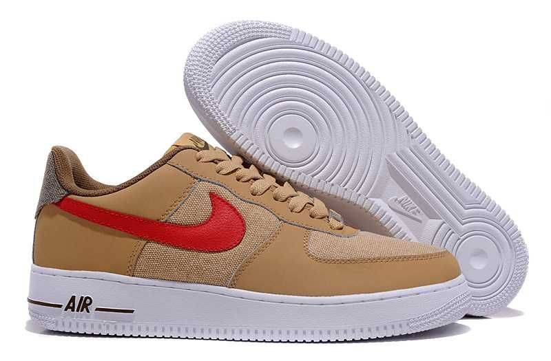 check out f1ade f079c 1797  Nike Air Force One Low Herr Brun Röd SE560696RYsaNmjbF
