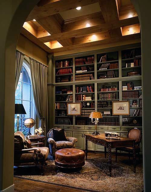 90 Home Library Ideas For Men - Private Reading Room Designs #traditionellesdekor strict cabinet #traditionellesdekor